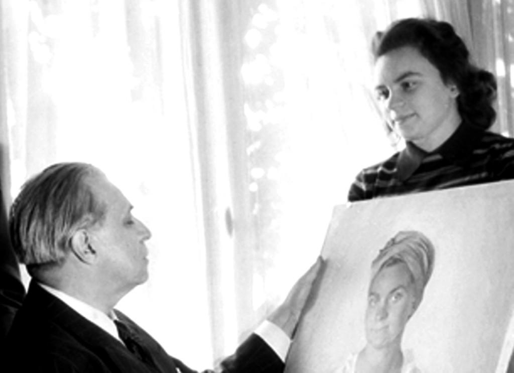 3.10 Savely Abramovitch Sorine (1878-1953), portraitiste russe, assis, avec sa famille. Paris, octobre 1946.