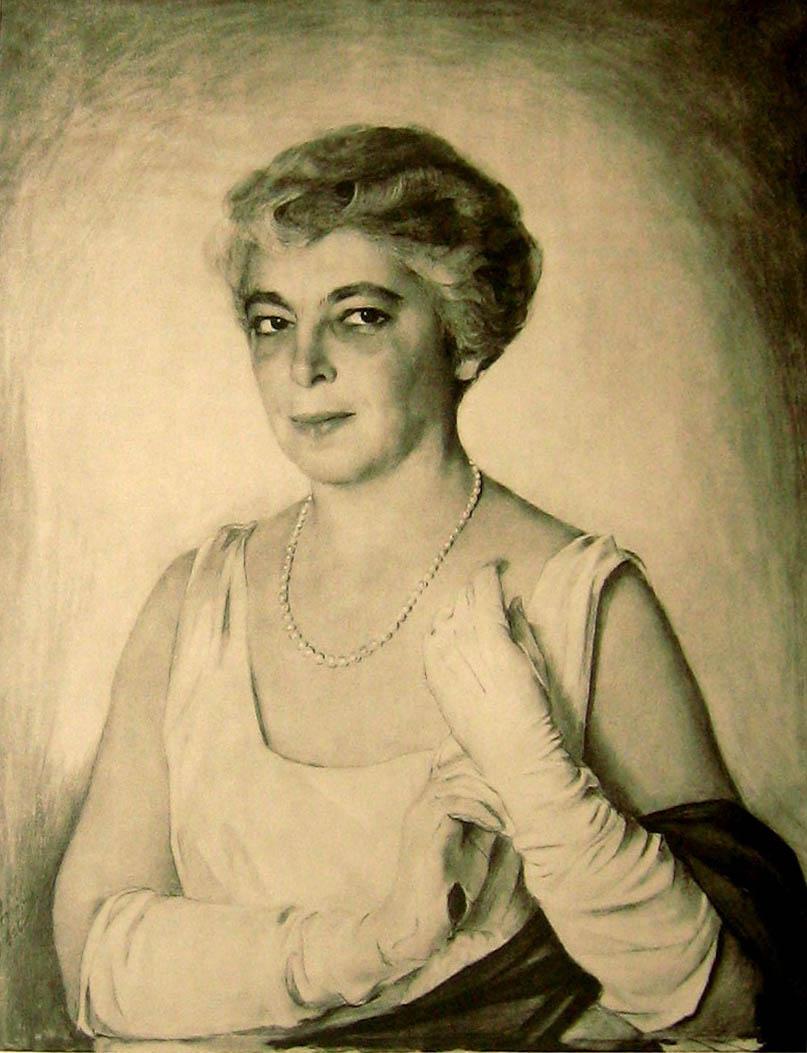 Портрет Элис -  mrs Pierre Du  Pont 1920-е фотогравюра из альбома