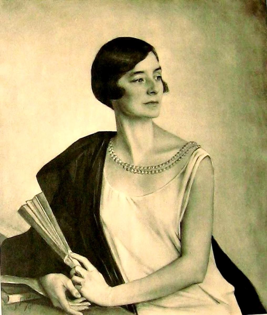Портрет художницы  Мэри Бенджамен Роджер1919 фотогравюра