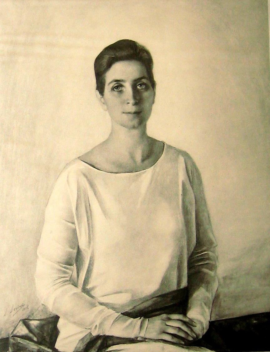 Портрет  Этель - Mme W.K. Du Pont 1926г фотогравюра 13x10,25''   из берлинск.альбома