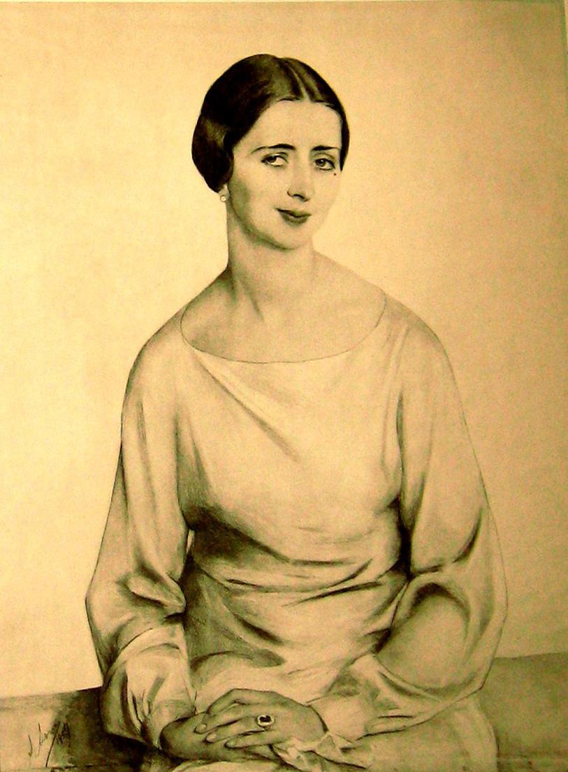 Портрет Н. Рябушинской фотогравюра из альбома.1927.