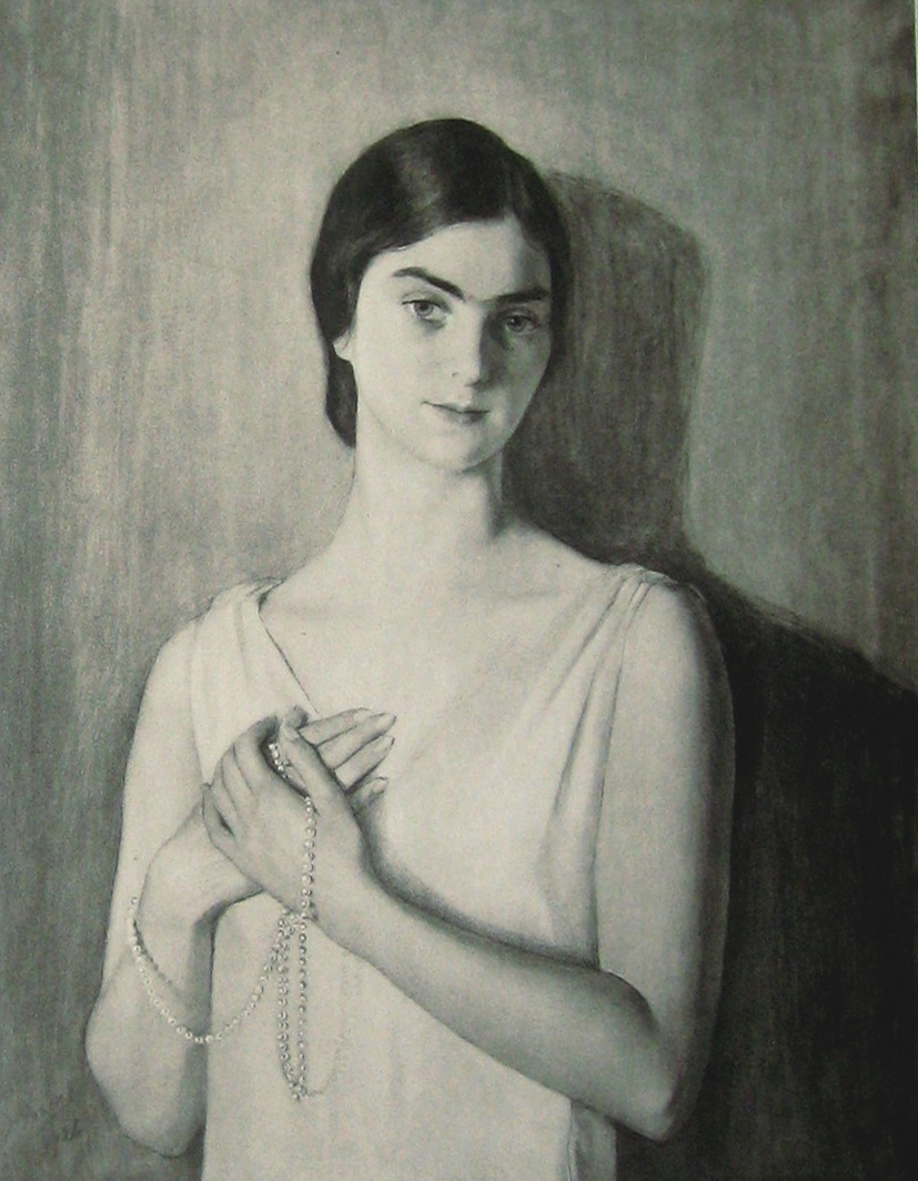 Портрет женщины ,стоящей у стены 1926. фотогравюра из альбома.