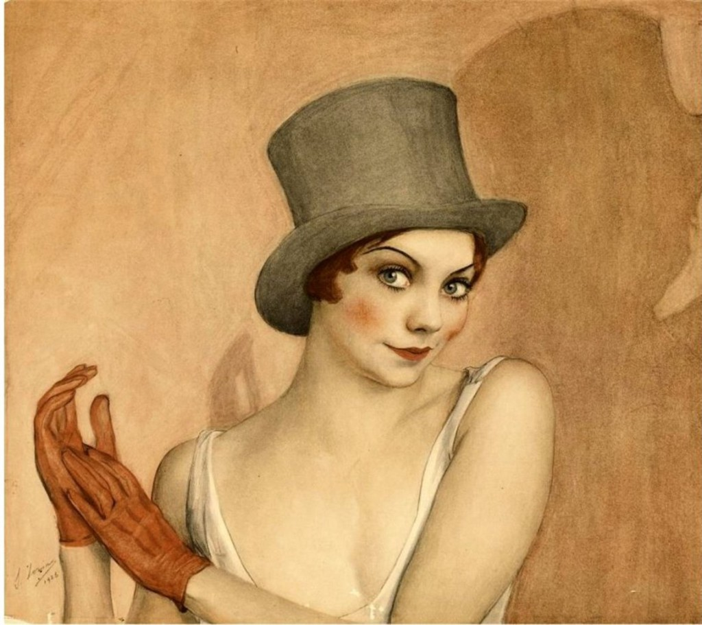 Портрет актрисы из постановки Grate Gatsby Era Deco