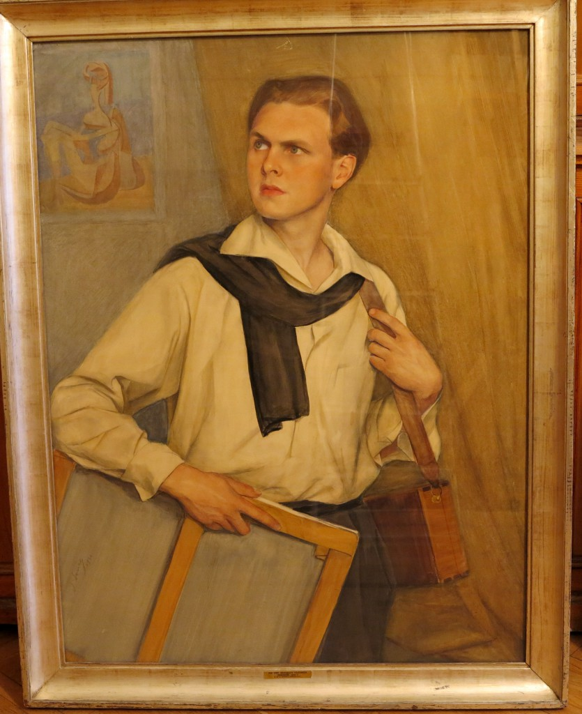 Портрет Ланского 1936 бум.на х.акв.,гр.карандаш,бел.118x94