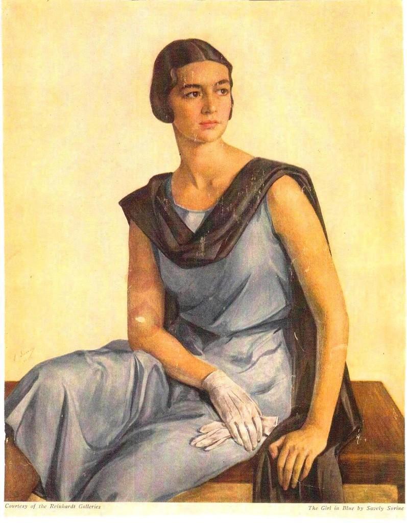 Девушка в голубом- Портрет Александры Ламздорф-Галаган (Швецовой) 1930