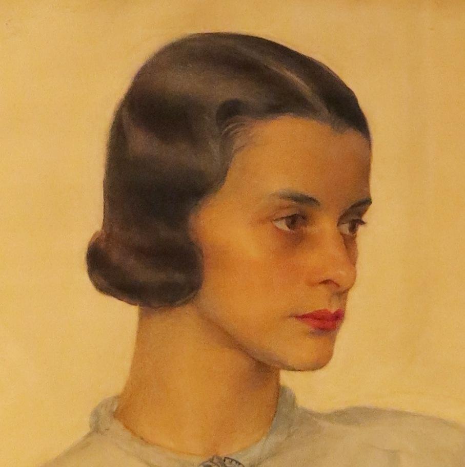 Портрет В.К.Сомовой 1936 ГРМ (фрагмент)