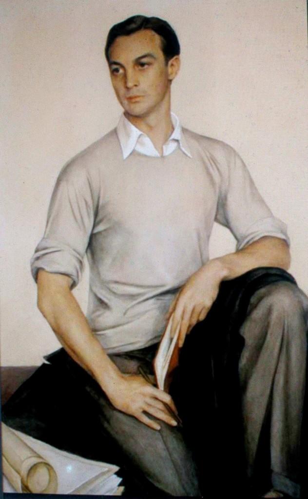133Портрет  Райта С.Лудингтона 1932 гуашь, акв.,карандаш, бум. дар Констанс Лудингтон Драйтон муз. искусств Санта-Барбара