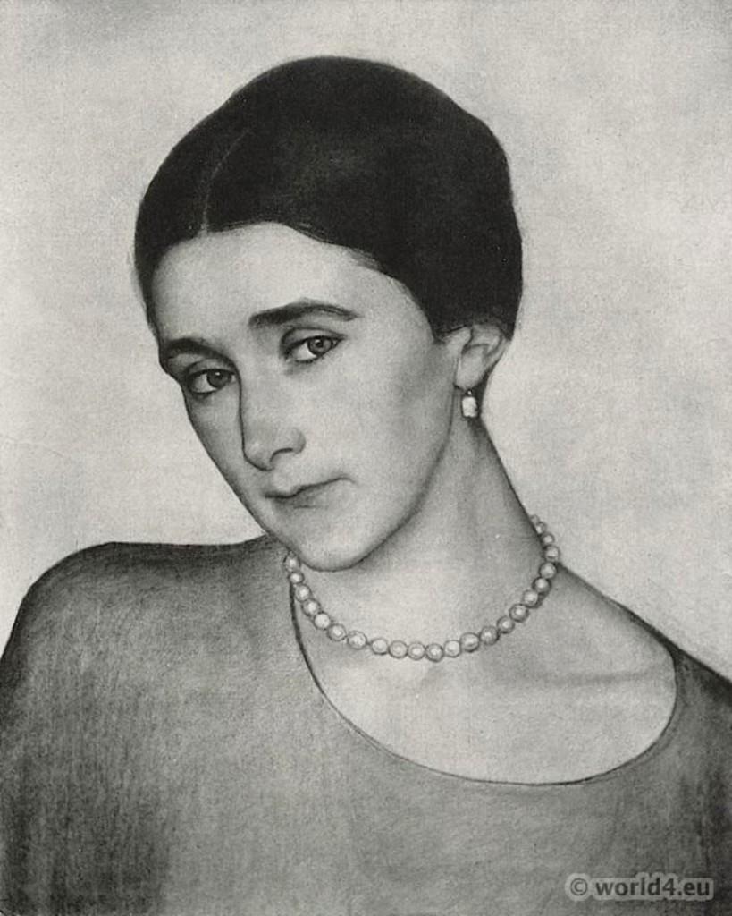 Портрет кн. Любовь Петровны Оболенской 1918 - вариант 1(фото)