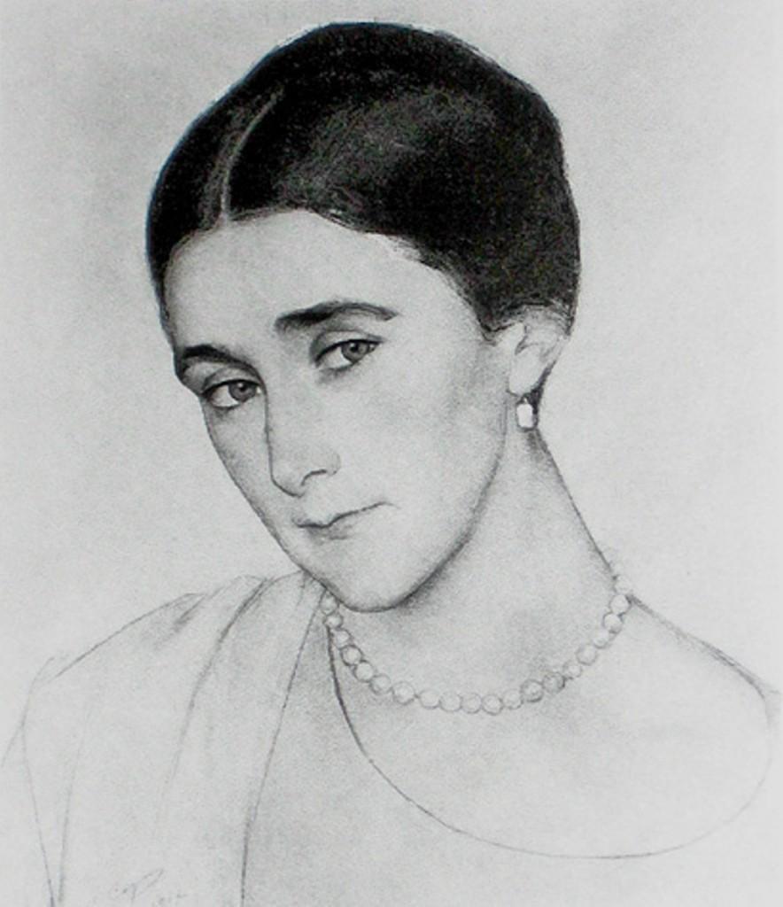 Портрет кн. Любовь Петровны Оболенской 1918 - вариант 2 (фото)