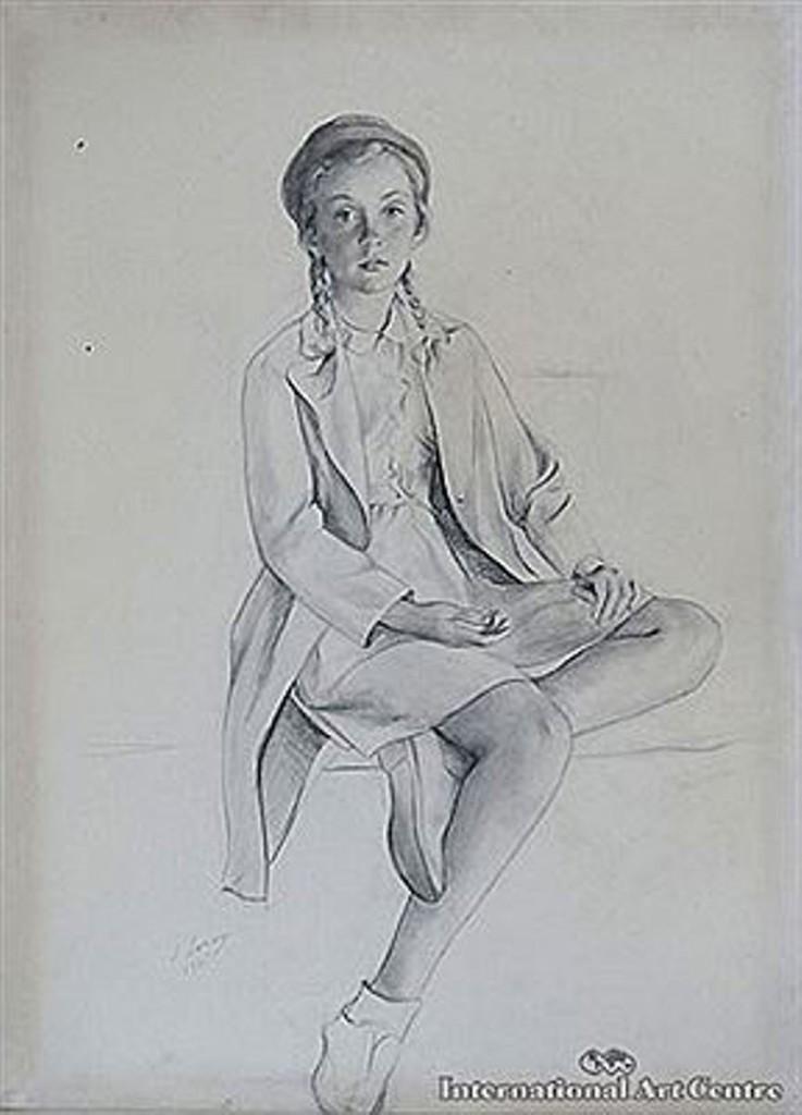 Неизвестная девочка 1945  кар.бум. на х.78Х56