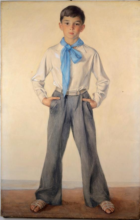 Портрет Павла Сорина-племянника художника 1933 Госэрмитаж