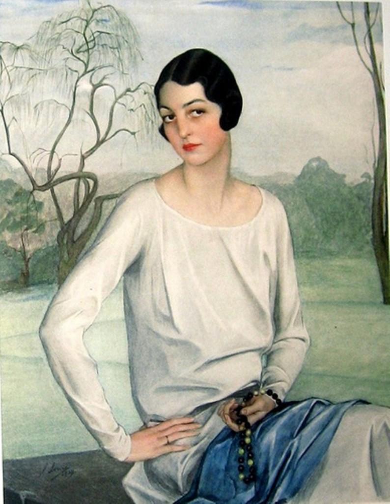 Портрет Ава Элис Оболенской 1920-е
