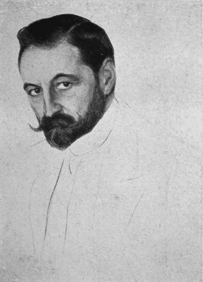 Портрет кн. С. М. Волконского 1915 г.