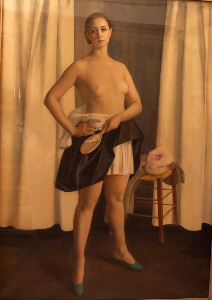 Девушка с зеркалом -Портрет балетной артистки Никитиной — копия