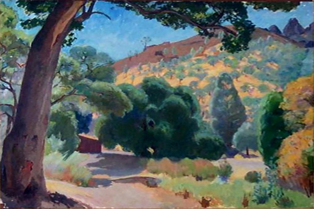 Лазурный берег (Пейзаж Прованса)1941. х. панель.40Х60,