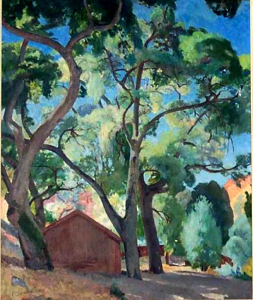 Деревья. 1941. М. на дереве. 60Х51