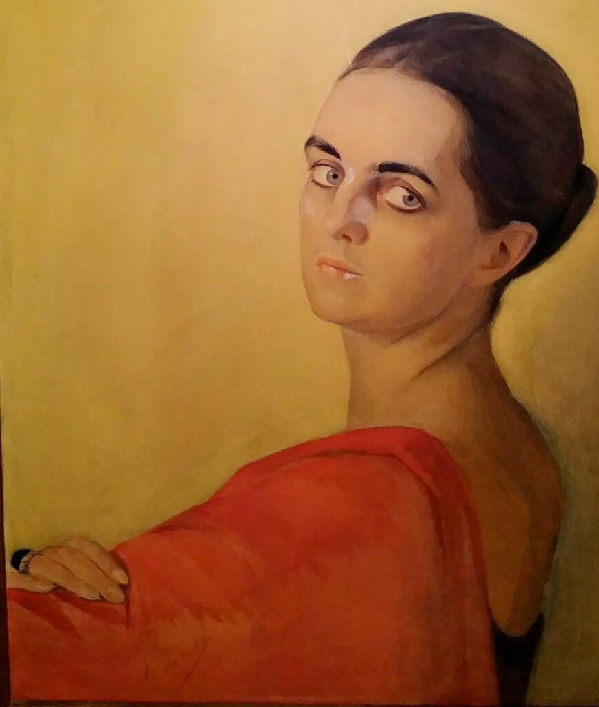Портрет неизвестной. Бумага, смешанная техника. 61 x 55
