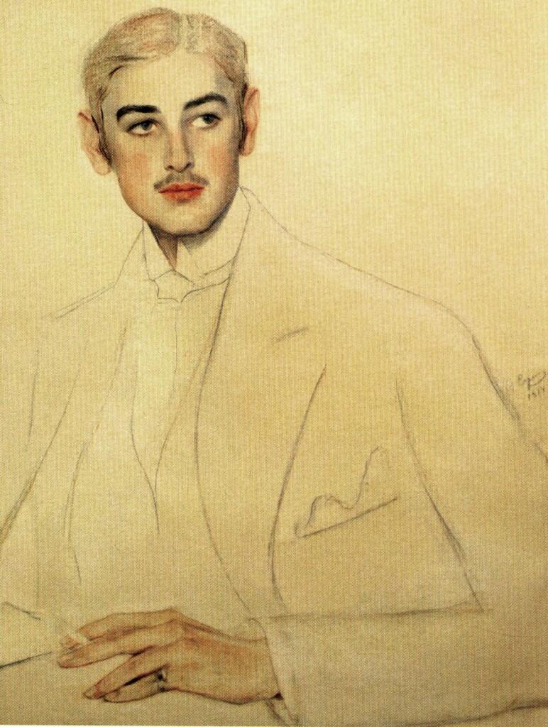 Портрет Оболенского 1914 Бум. , пастель, гр. кар. 72х55