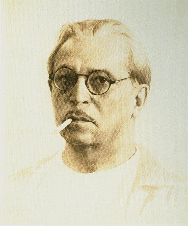 Автопортрет 1942 рисунок