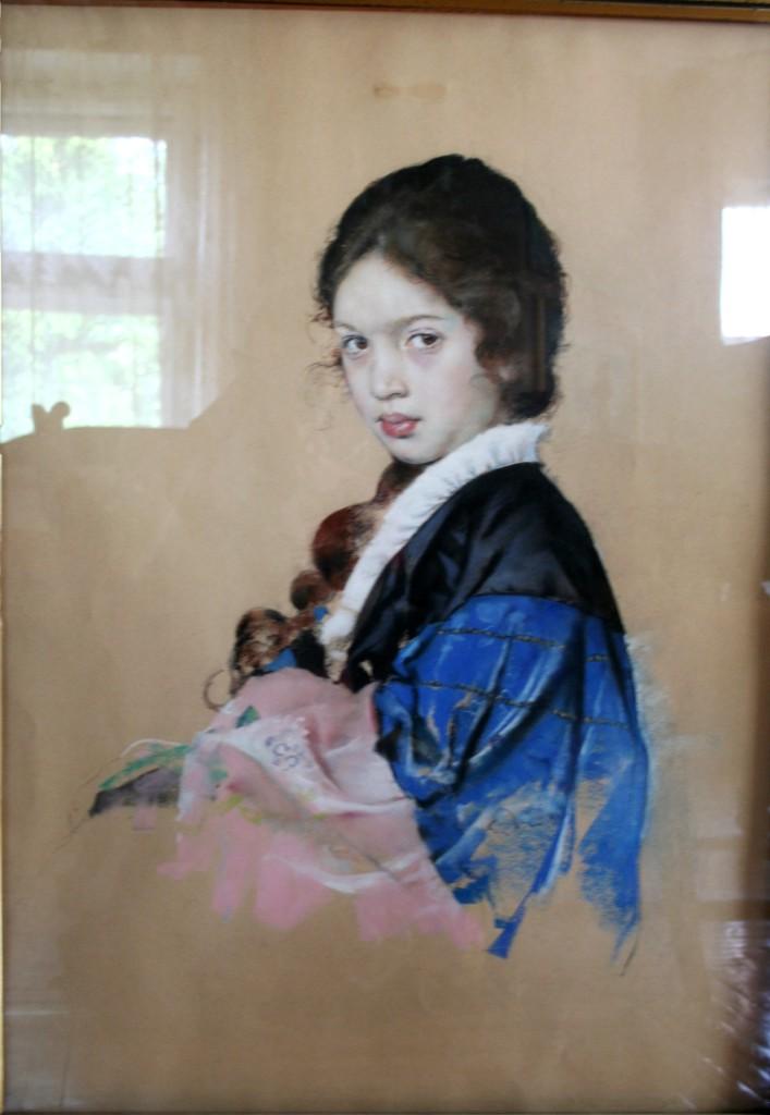 Портрет девочки  пастель 63x85  1910-е   годы — копия