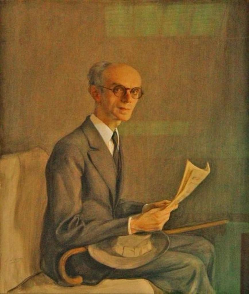 Портрет пианиста Гуревича.1944 бум. на х. смеш. техн. 88x110 из колл. кн.Ширвашидзе