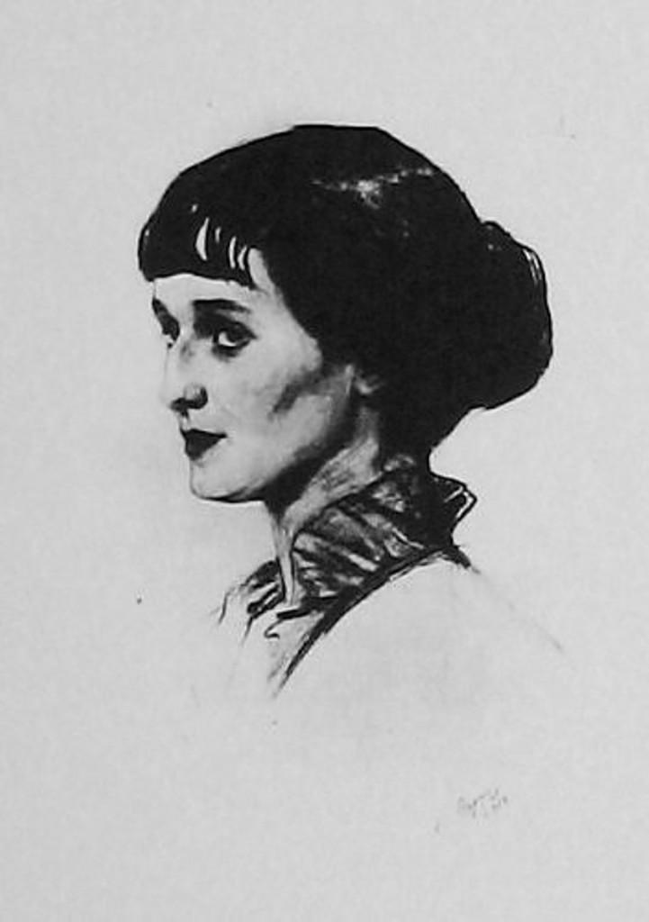 Портрет А. Ахматовой-1913