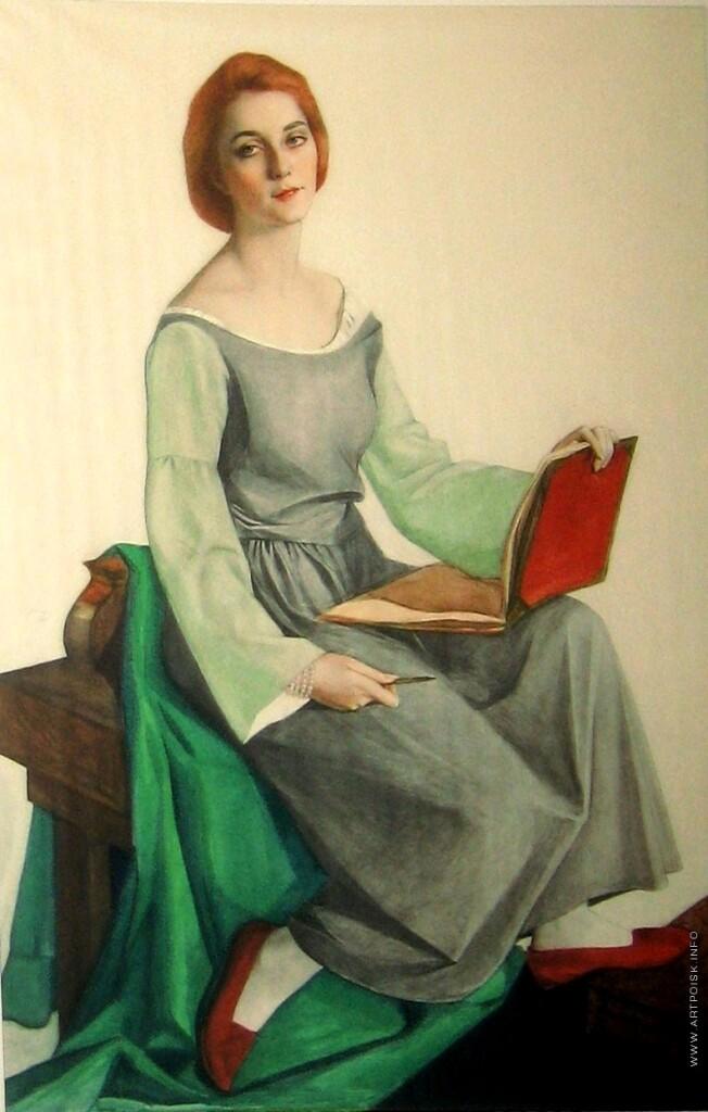 портрет мадам Одиль Бозе.1922г ГРМ.