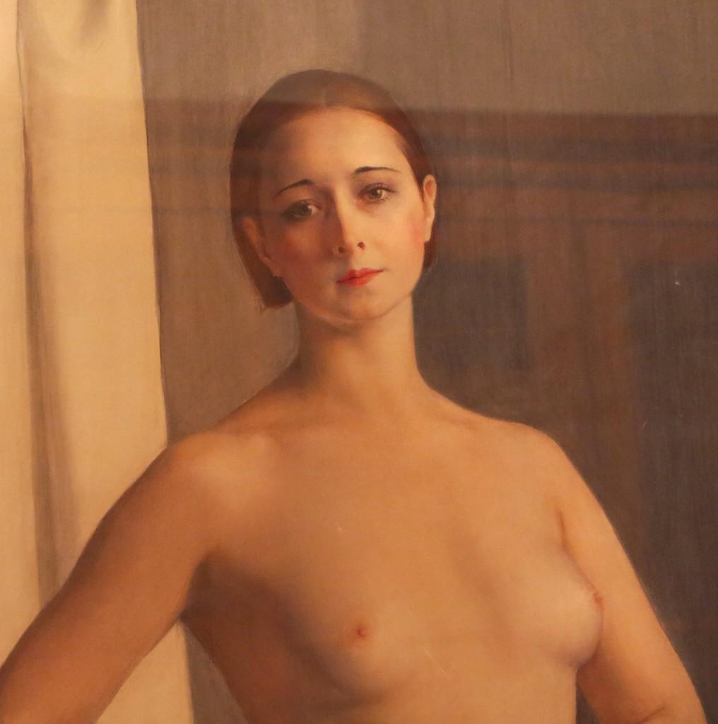 Девушка с зеркалом -Портрет балетной артистки Алисии Никитиной 1924гт Фрагмент