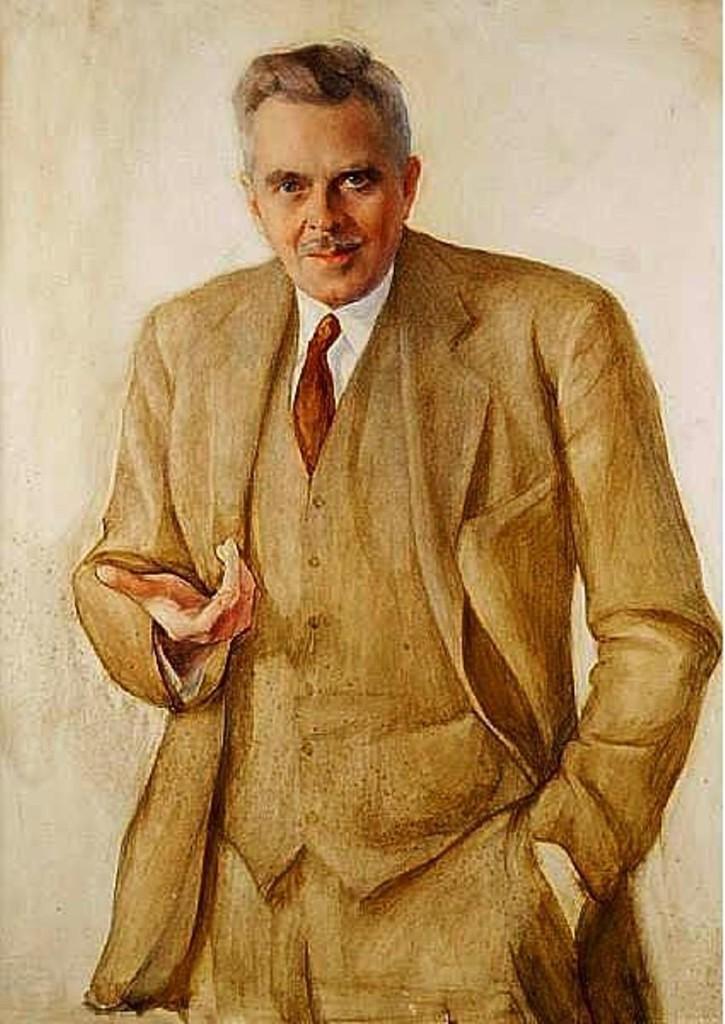 Портрет джентльмена   бум.на х.акв.кар.101x74...