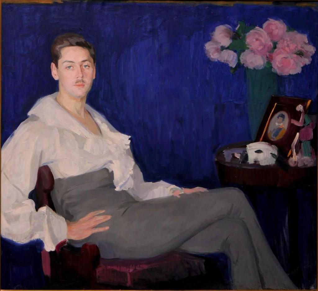 Портрет артиста Луганский х.м 108x118.от Корниловской М.И.в 1962г.