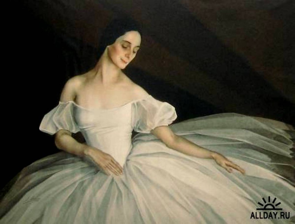 Портрет Анны Павловой в роли Сильфиды 1920-е гг.  х.м.103x129 Люксембургский дворец Париж