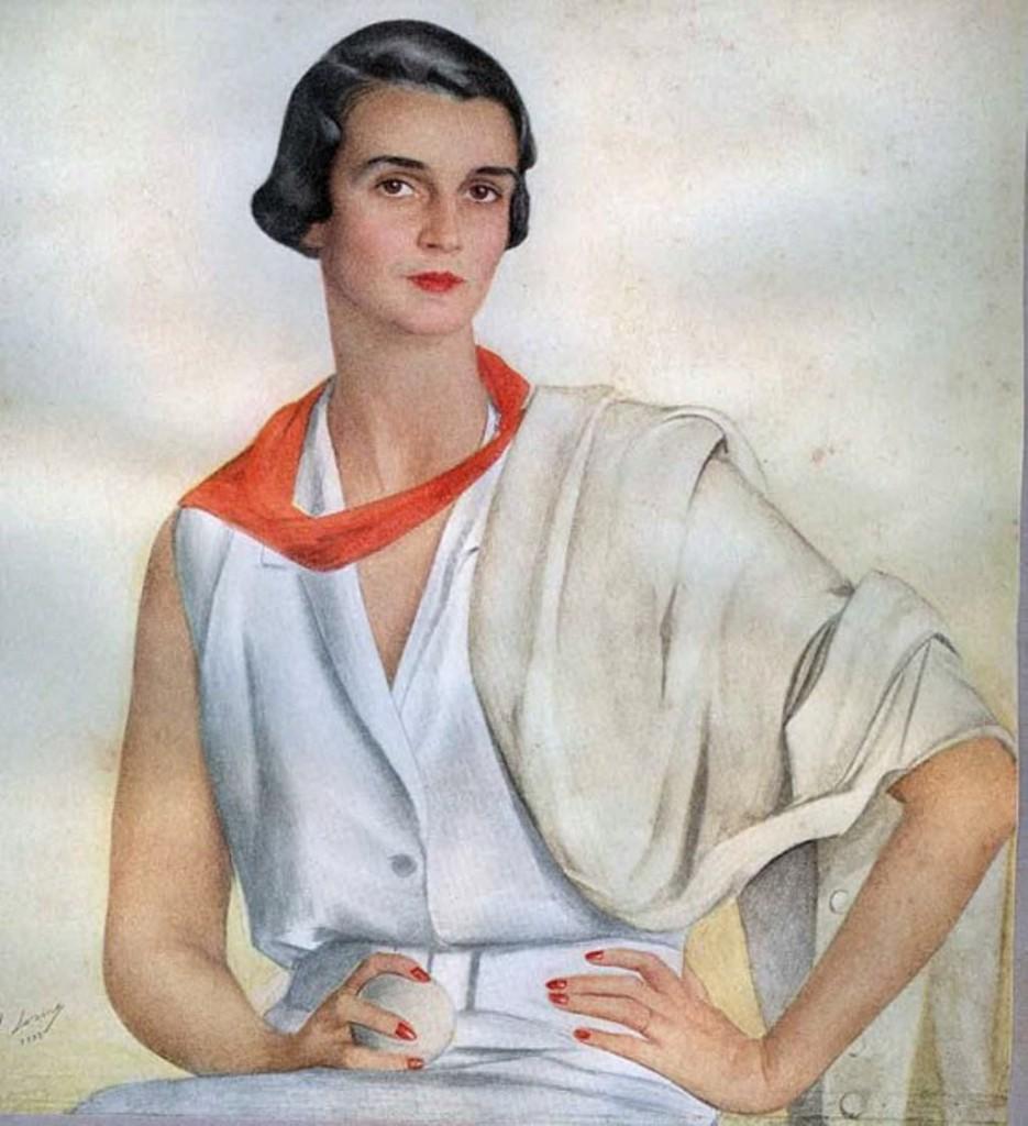 """портрет миссисГлория  Харольд Талботт мл.-бывш. Пегги Сайер  - """"Королова крика """"1933"""