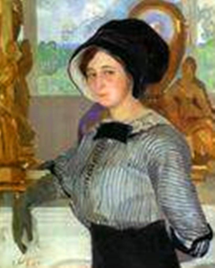 Дама у камина х. м. 1911 80x65'5.