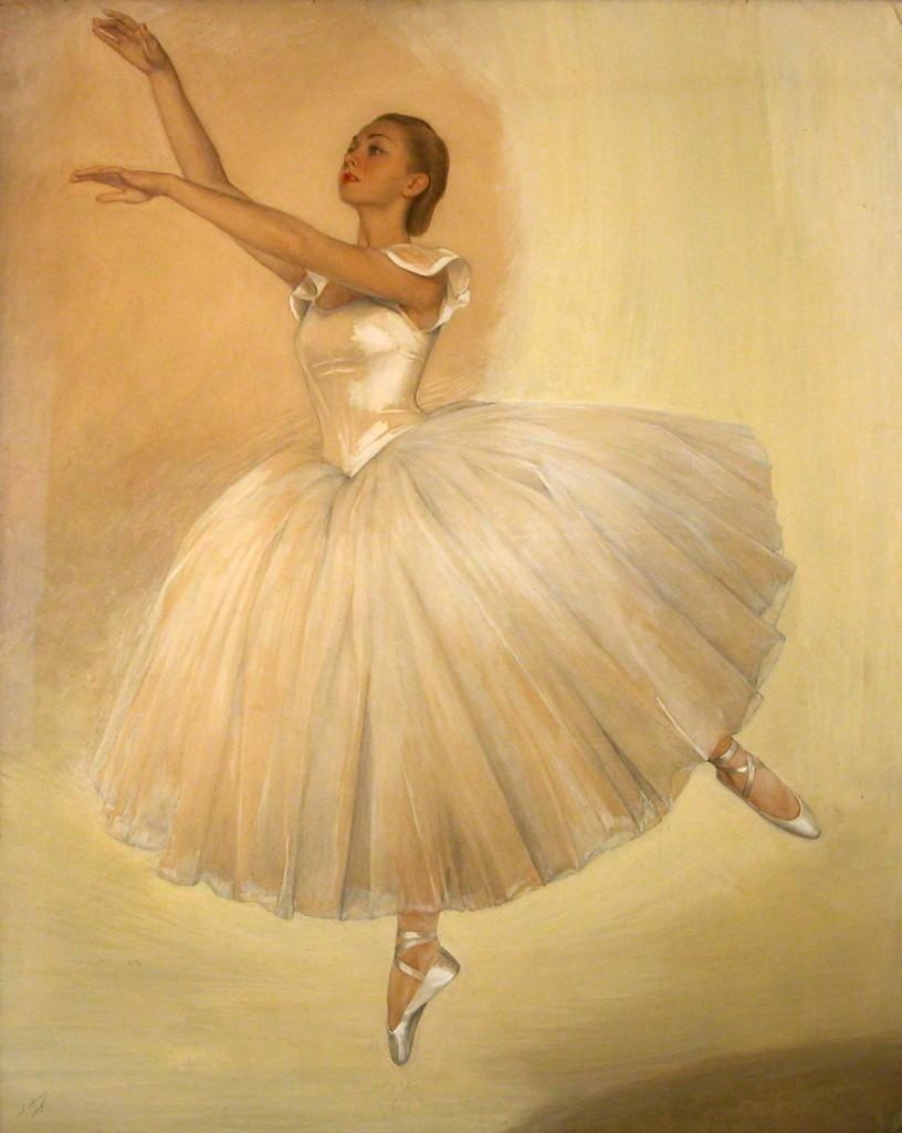 Портрет балерины Ирины Бароновой 1939 х.м.176x141 Донецк